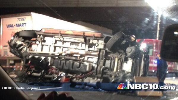 JUST IN: New image from NJ Turnpike crash where Tracy Morgan was critically hurt. http://t.co/CF7Fk4as27 http://t.co/U7R5Fziw08