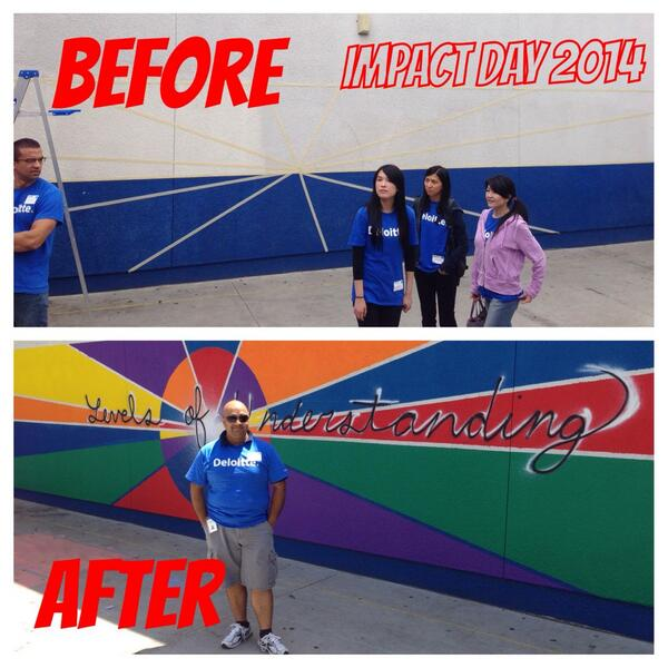 What an Impact. Thank you @DeloitteUS for providing opportunity to serve the community at #LosAngeles . #IMPACTDay http://t.co/PvqfEHQD3A