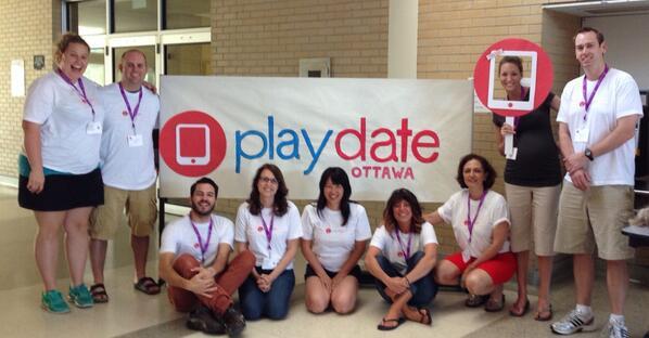 The @playdateottawa task force hard at work! #playdateott http://t.co/fl5BdXHMyd