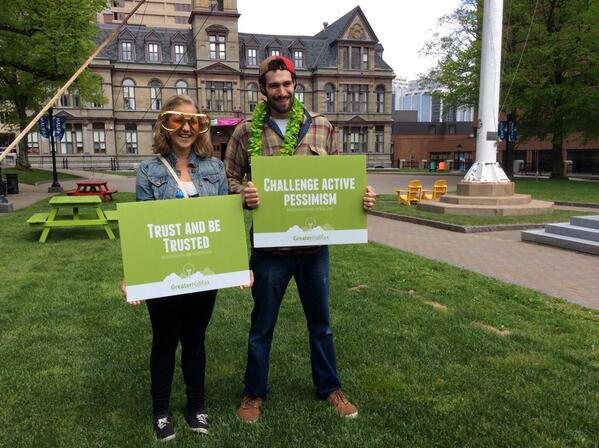Having a great time engaging with the community. Lots of positive attitudes & people taking the #myHFXpledge. http://t.co/NHehM58uE0