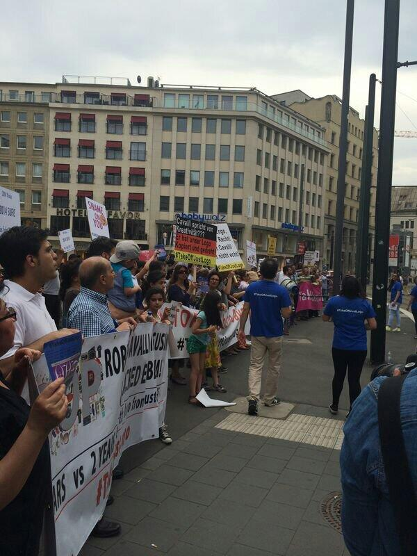 We're going around the world with #TakeOffJustLogo  Can't you see how many you're hurting? Give our logo back! http://t.co/NFmAV5gxEm