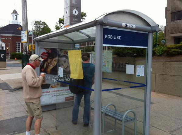 Free coffee at our pop-up transit hub at Robie & Spring Garden! #100in1DayHfx http://t.co/pmsKjiboy4