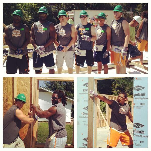One of most meaningful events of the year for @vol_football began today as #Team118 builds a home for @KnoxHabitat http://t.co/yCxMLQqf13