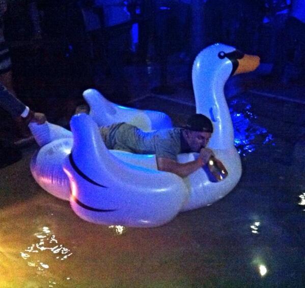Johnny Manziel Party Swan