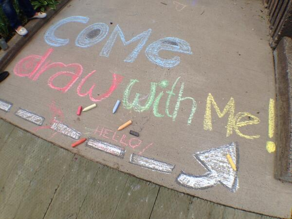 Make some chalk art at Nathan Green Square. @My_Waterfront  #TheUnfolding @100in1dayHFX http://t.co/BEQDSwajzG