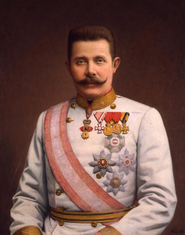 Sie sind jetzt der Generalinspekteur der Streitkräfte von Österreich-Ungarn @ArchdukeFranzi #KU_WWI #WhySarajevo http://t.co/zsJOOiwccd