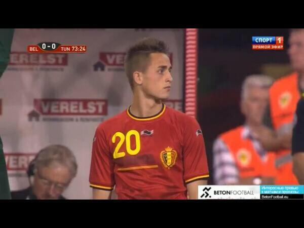 Man Uniteds Adnan Januzaj got his Belgium international debut v Tunisia [Individual highlights]