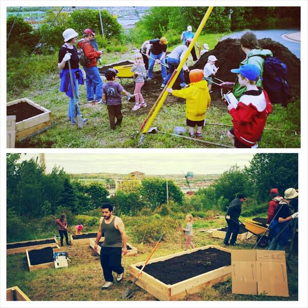 Big shout out for @necchalifax for creating this AMAZING community garden nr memorial park, Hydrostone #100in1Day http://t.co/h0mKDVWPap