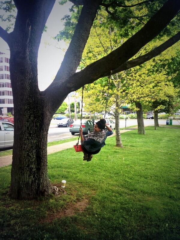 Cute red swing!!!  @100in1dayHFX #redswinghfx @downtownpaul @DowntownHalifax @WayeMason @WestinNS http://t.co/Zpiex14vnb
