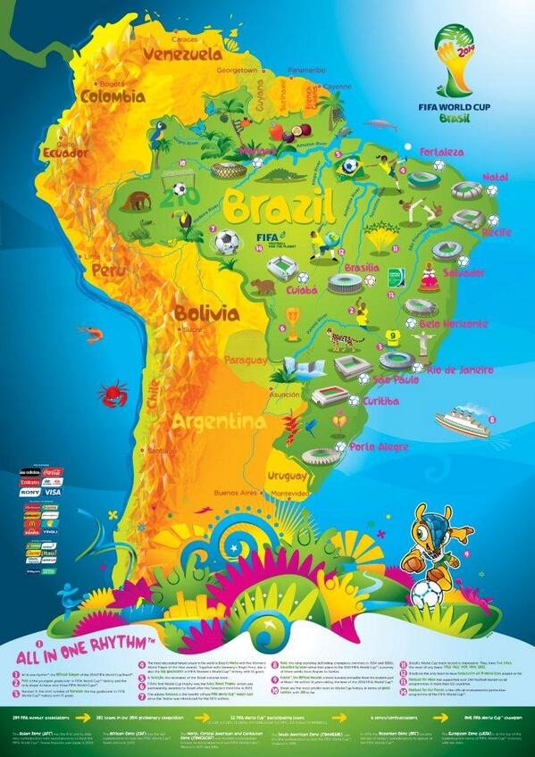 "FIFA World Cup ar Twitter ""This colourful map features all 12"