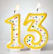 Image result for 13th birthday signs