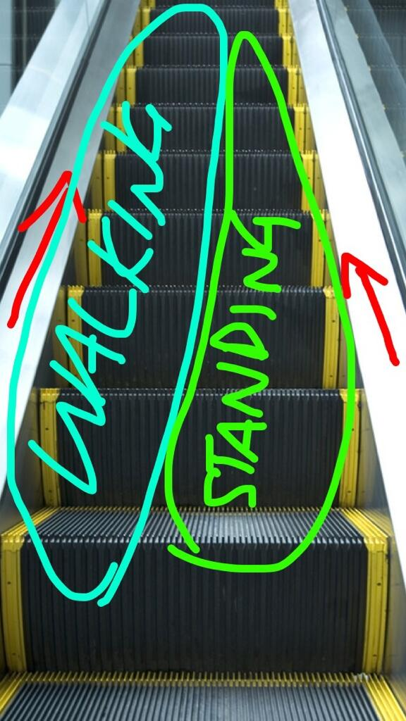 ESCALATOR ETIQUETTE-- LEARN IT. http://t.co/16koCQWsNp