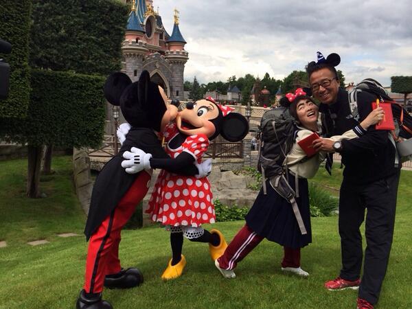 フランスワールドツアー見て下さった方ありがとうございます!貫田さんと素敵なデートを満喫しました! http://t.co/c0krvQ9BOj