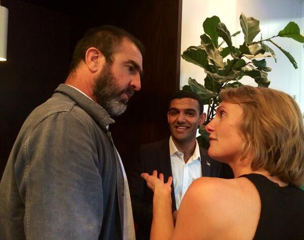 When Cantona met @mahmoudsarsak. First meeting after helping to get Sarsak released from jail in Israel #Sidelines http://t.co/TSZ7hLUSPl