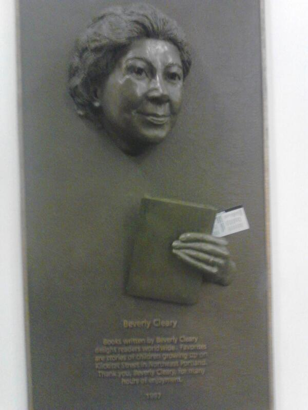 In 1987, beloved children's author Beverly Cleary was frozen in carbonite and installed in Multnomah County Library. http://t.co/XinuoS7ePU