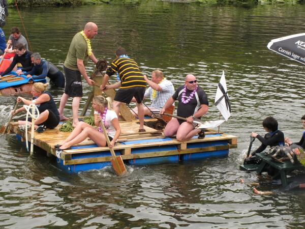 Ellen Hawley On Twitter Todays Raft Race In Boscastle The Picnic - Picnic table raft