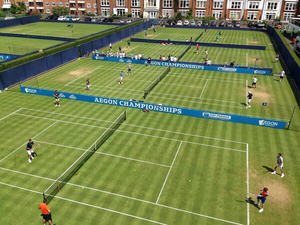 Whilst Rafa & Nole are currently battling in Paris, our players are preparing on the green grass @TheQueensClub http://t.co/ktWkkKehsB