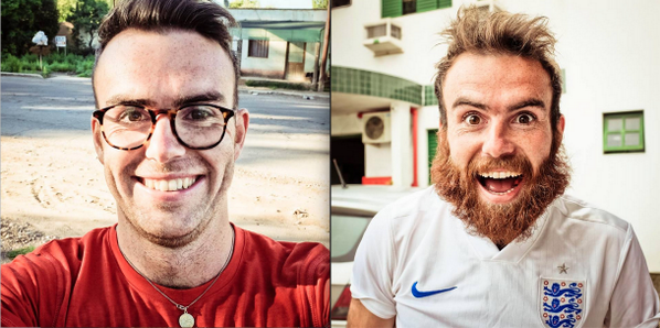 Look how much Burnsy has changed over the last 100 days spent walking to the @FIFAWorldCup #Beard #WalktotheWorldCup http://t.co/ZlCC2WxXzI