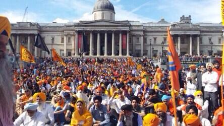 Peaceful freedom rally today T Sq. #SikhGenocide84 @SkyNewsBreak http://t.co/twrA0c7X2V