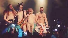 Naked singer and the band