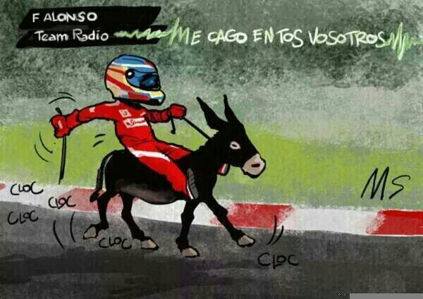 Descripción gráfica de la carrera de Alonso... y Kimi :( #Ferrari --- http://t.co/RIj80ZUlVW