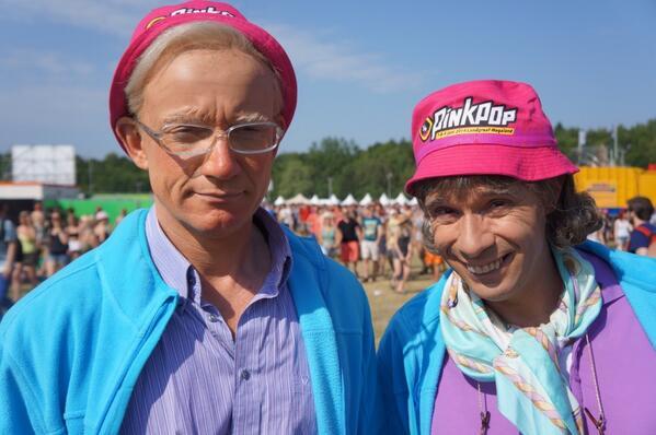 Okko en Eus op Pinkpop