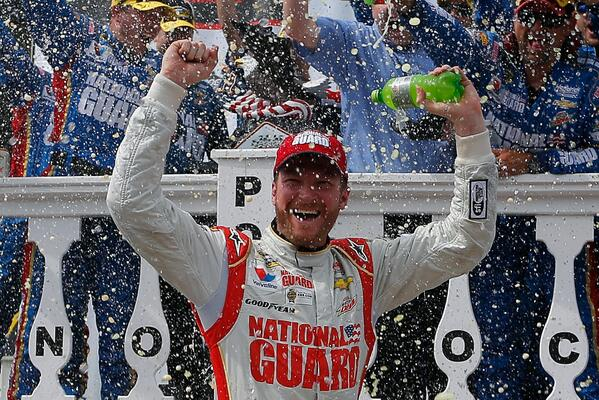 Retweet to congratulate @DaleJr for winning his 2nd race of 2014!   #NASCAR http://t.co/QEbOj3FKRb