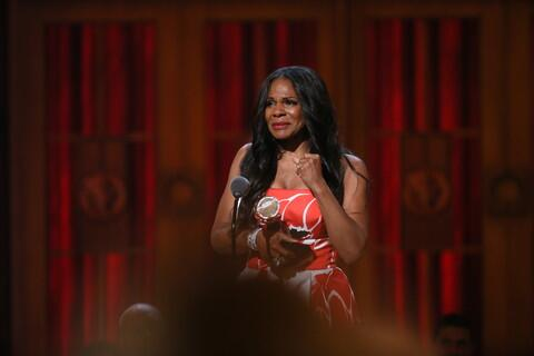 Photo: Audra McDonald accepts her history-making Tony Award (Photo: Sara Krulwich/NYT) http://t.co/W8TcVsiPrU http://t.co/07veRjxSns