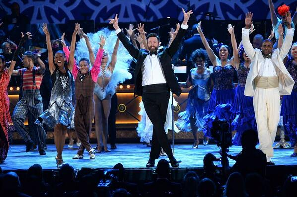 If you're excited to celebrate live theatre, raise your hands. #TonyAwards http://t.co/K6OGustDBF