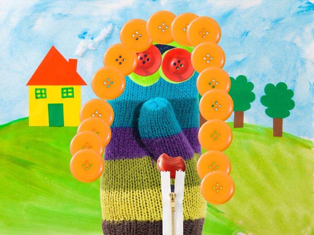 Twitter / RaeFearing: Kindergarten digital art: sock ...