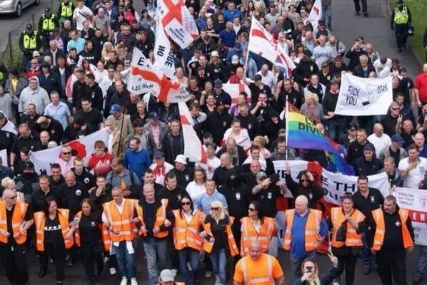✌️✌️✌️RT @LadyMercia: EDL Demo In Stevenage Saturday,against Muslim Rape Gangs, Good Turnout ,Good On Them✌️