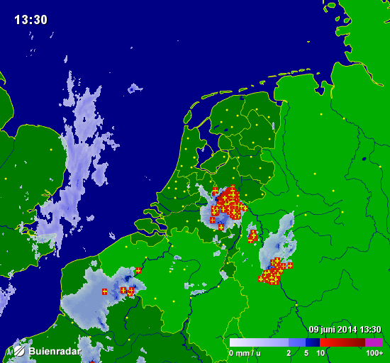 "buienradar on twitter: ""onweerscomplex trekt via gelderland"
