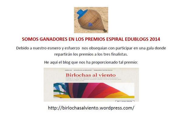 Cartel propuesto por José Joaquín para difundir en el insti lo de los premios Espiral Edublogs #AmayaMariposasFauno http://t.co/pHWwpo3Pyn