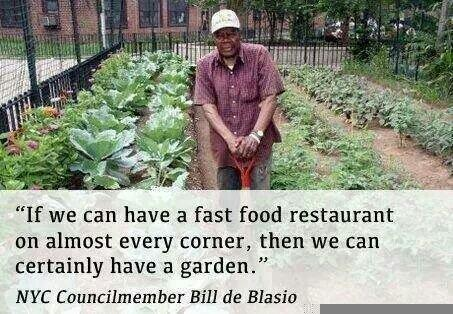 """If we can have a fast food restaurant on almost every corner , then we can certainly have a garden."""" Via @Food_Tank http://t.co/LhxTevzMMl"""