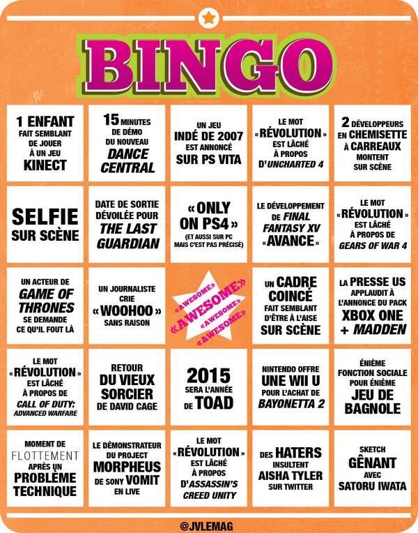 Jv le mag on twitter l 39 indispensable grille de bingo de l 39 e3 imprimer en pr vision des - Grille de bingo a imprimer gratuit ...