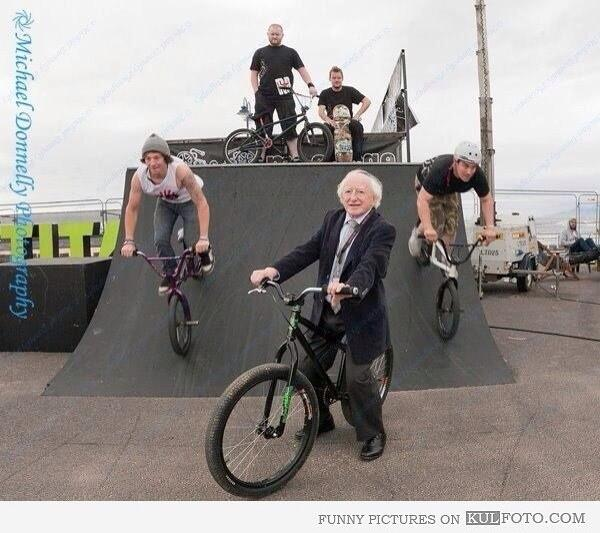 So.. This is the president of Ireland, incase you didn't know..  Michael Diggity Higgins haaa http://t.co/pdsXsCCfyl