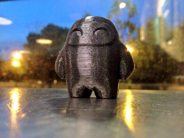 So @Inventables has this awesome material called – no lie – NINJAFLEX! And they 3D printed this with it: #squishy http://t.co/Qv1J53I0Vi