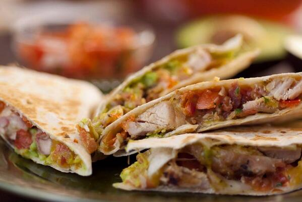 Life just does not get much better than a #quesadilla with bacon and avocado. http://t.co/VMV5smnPDn