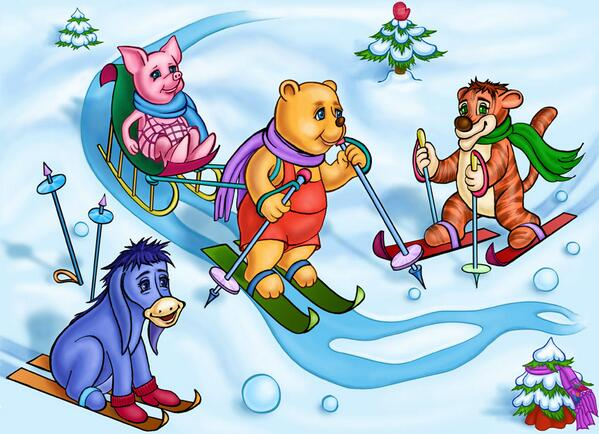 Картинки детские зимний спорт