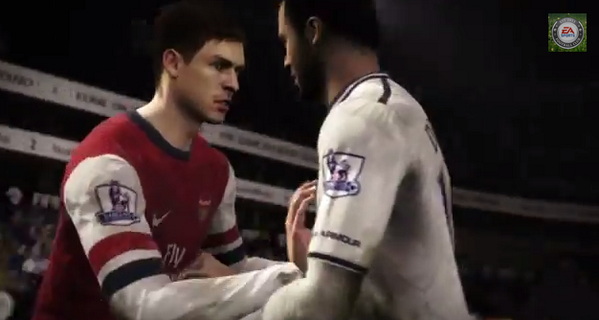 The new FIFA 15 trailer features an Arsenal Spurs spat between Ramsey & Dembele!