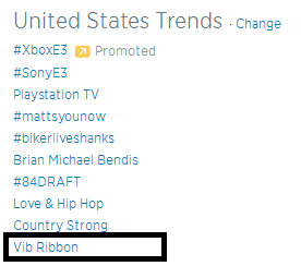 Vib Ribbon trending on Twitter in the U.S. Never thought I'd see that! http://t.co/lhdX1hf7JW