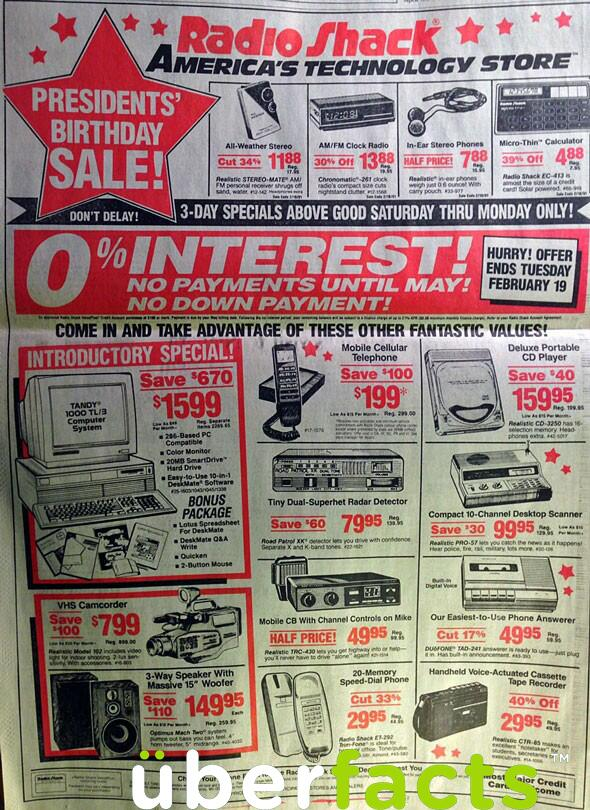 Everything In This 1991 Radio Shack Ad Exists In A Single Smartphone