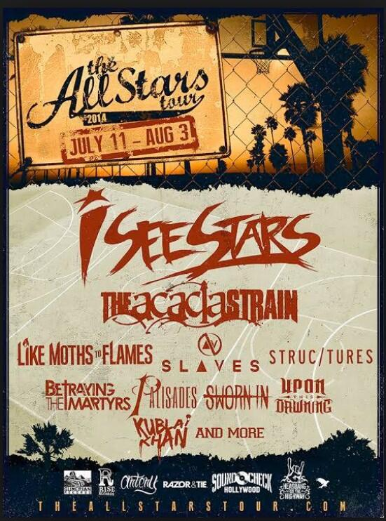 don't forget! @iseestarsmusic @theacaciastrain @LMTF @SLAVESOFFICIAL @wearestructures @MartyrsTweets @WeArePalisades http://t.co/FUCoFO2Xhu
