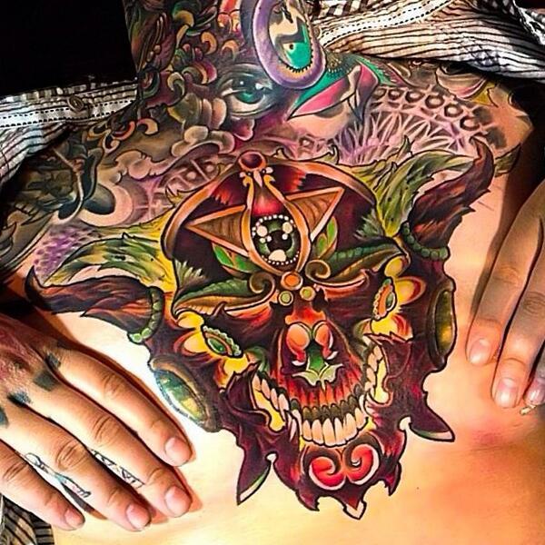 illuminati tattoo on twitter full color newschool women
