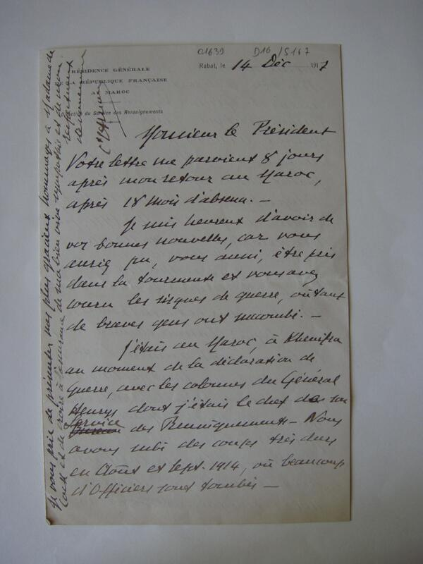 The story of Cpt Arnaud: at Moroccan Rabat (Fr. protectorate) at the declaration of war #WW1archives #askarchivists http://t.co/LOpEsuBh1p