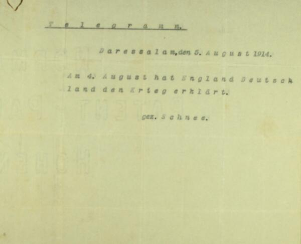 Letters from Tanga (Tanzania) military post of German E Africa #WW1archives:Declaration of war http://t.co/CbeD18t1aL http://t.co/12yCD5yiCM