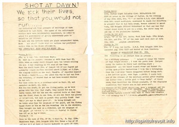 Chilling document from our archive regarding the murder of #WW1 'deserters'. #WW1Archives #SpiritOfRevolt http://t.co/7bKWdGcg1j