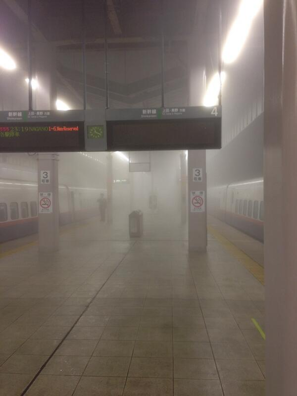 軽井沢到着! 霧が凄いです! http://t.co/MA59hx3xKW