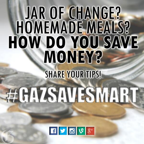 Got good personal finance advice? We're collecting them! Tag yours with #GazSaveSmart http://t.co/jJ7XJdb66r