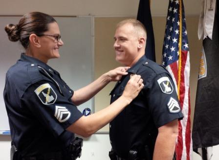 Idaho State Police On Twitter Its A Specialday When Sgt Julie Donahue Gets To Pin Sergeants Badge The New Mark Her Husband